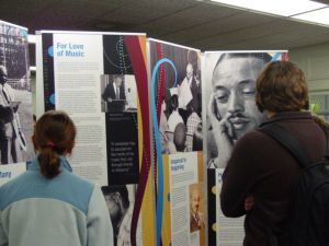 Students from MSMS reading through William Grant Still exhibit
