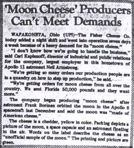 Commercial Dispatch July 19_1969 Moon Cheese article