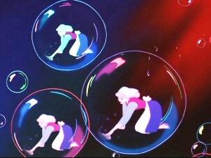 "Meador drew the bubbles in ""Cinderella"""