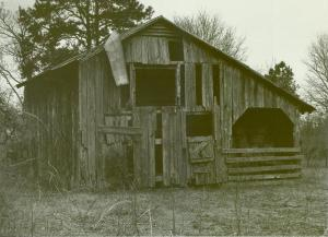Barn built during the Farm Security Administration Project, 1937