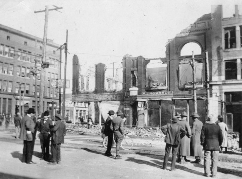 122_Downtown after fire_March 18 1919_Photo by J.F. Highsaw_LH 112