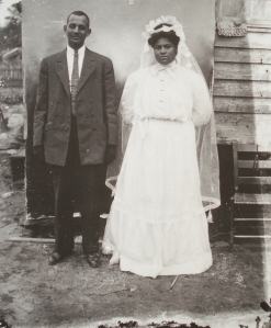 Wedding couple, c. 1910s.